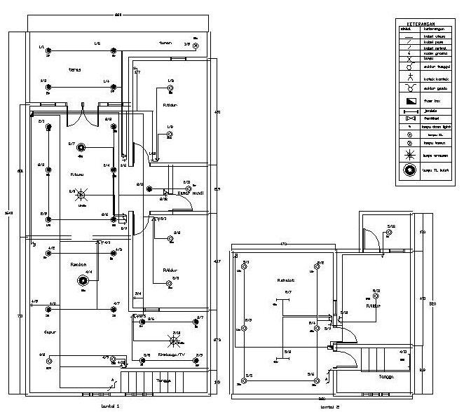 Instalasi listrik rumah bertingkat desain gambar foto tipe rumah instalasi listrik rumah bertingkat ccuart Images