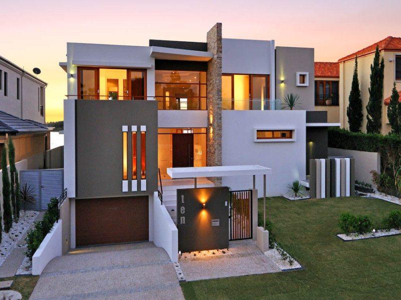 fasad rumah minimalis elegan desain gambar foto tipe