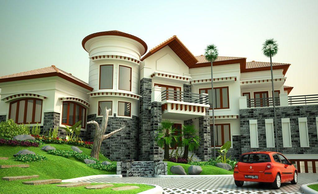model rumah mewah unik desain gambar foto tipe rumah