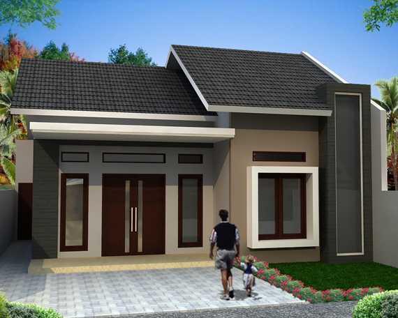 bentuk rumah sederhana yang nyaman dan artistik