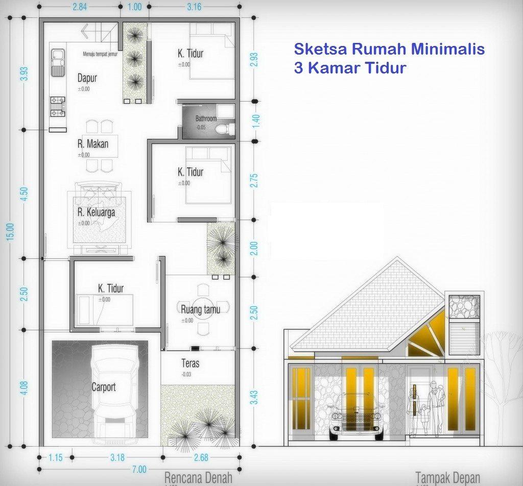 Sketsa Rumah Minimalis Beserta Gambaran Ruangannya