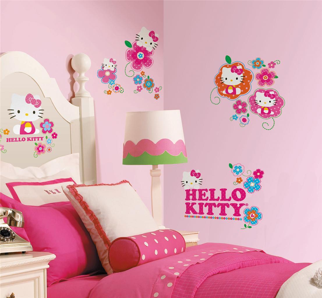 Wallpaper Dinding Kamar Anak Hello Kitty Desain Gambar Foto