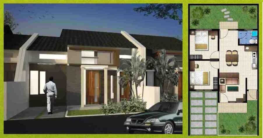 rumah tipe 45 minimalis sederhana desain gambar foto