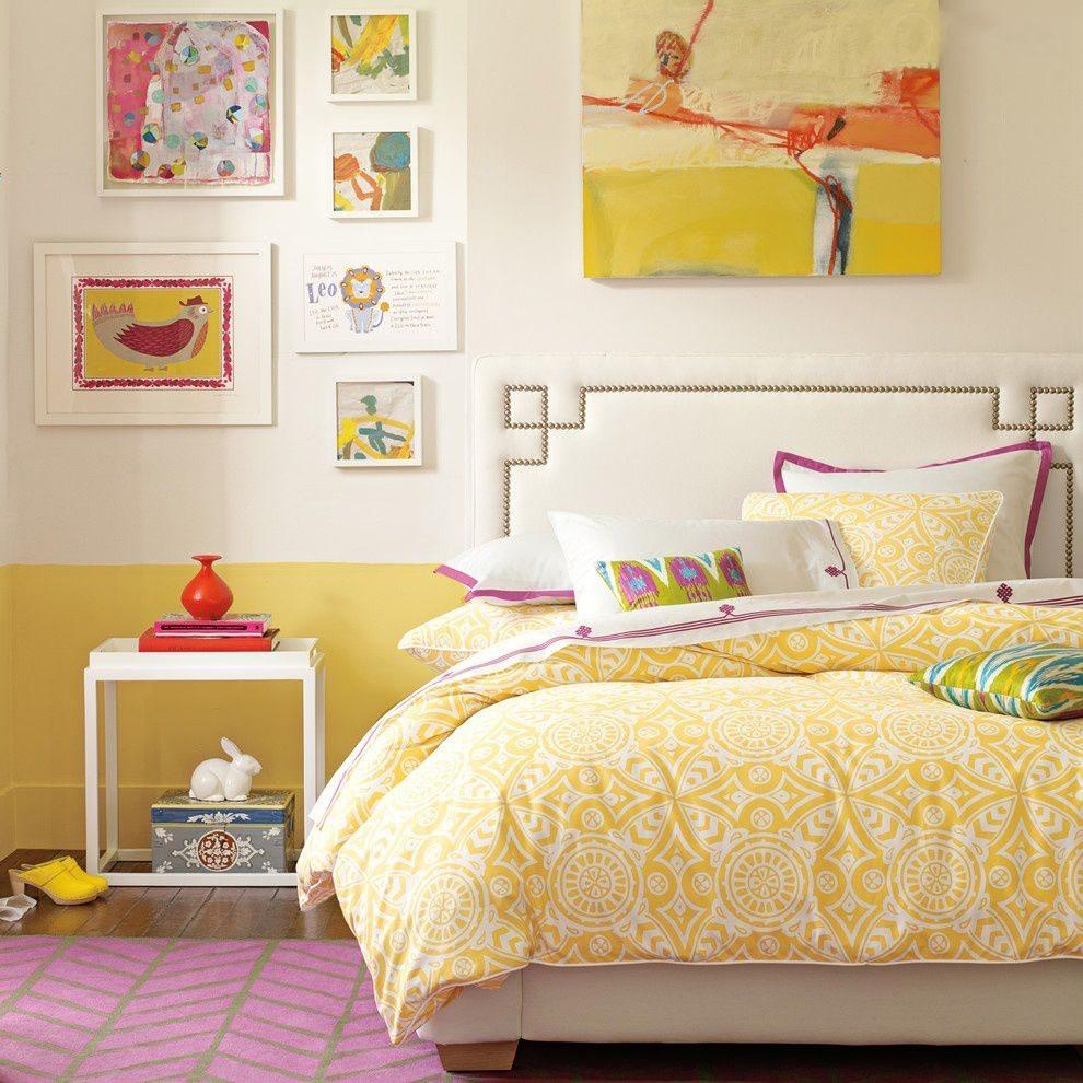 dekorasi kamar tidur sederhana ceria desain gambar