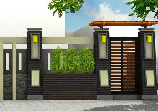 model pagar batu alam desain rumah