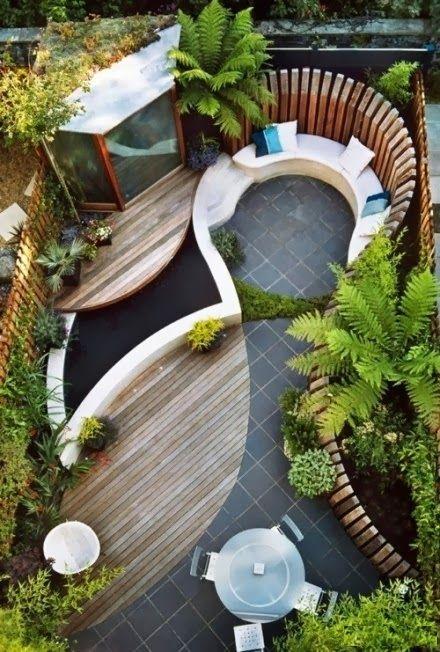 taman belakang rumah minimalis cantik desain gambar