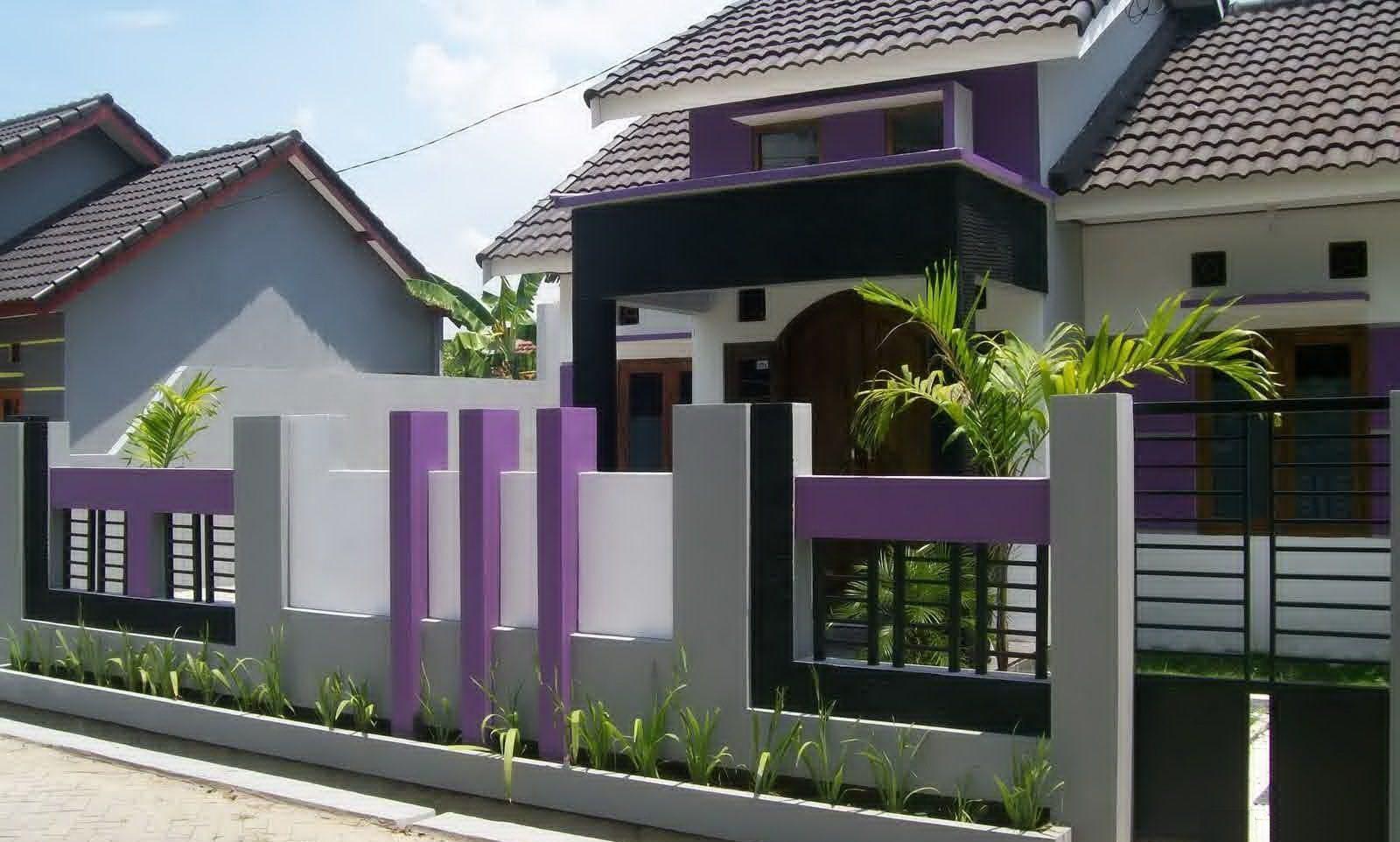 Pilihan Terbaik Warna Cat Pagar Rumah Dengan Taman Tropis