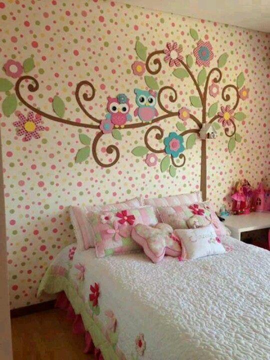 Украшение стен в детской комнате своими руками