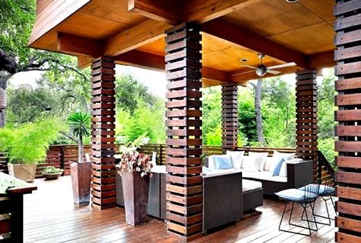 model teras rumah mewah minimalis terbaru desain gambar