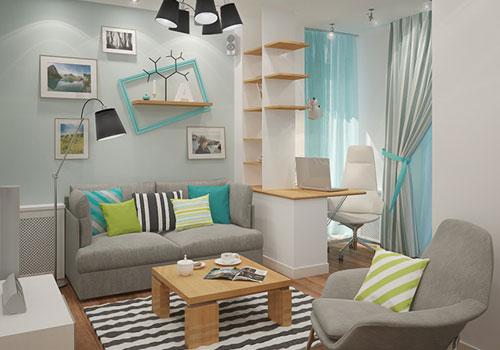 Siasat Warna Cat Ruang Tamu Sempit Agar Terlihat Luas Desain Gambar Foto Tipe Rumah Minimalis