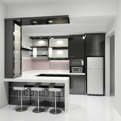 desain dapur sederhana minibar - desain, gambar, foto tipe