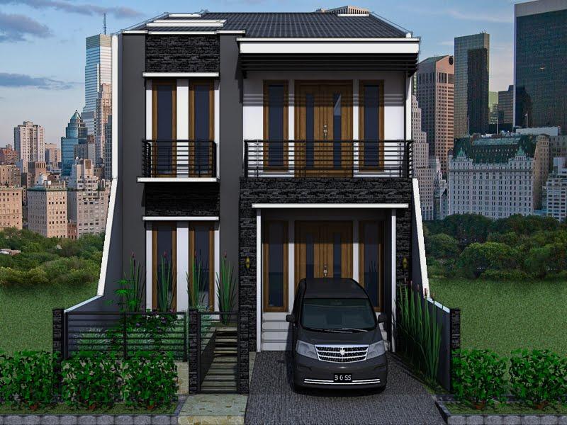Rumah Tingkat Minimalis Mungil Modern Type 36 Desain Gambar Foto Tipe Rumah Minimalis