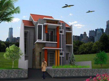 rumah tingkat minimalis mungil modern type 36 | desain