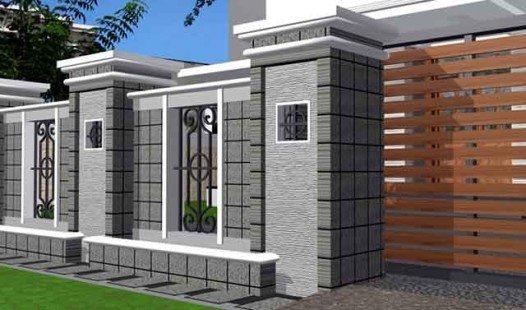 Contoh Pagar Rumah Minimalis Modern Terbaru   Desain ...