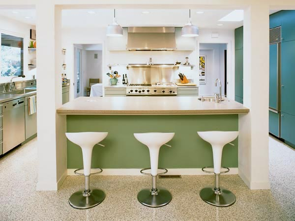 Desain Dapur Mungil Retro Minibar Desain Gambar Foto Tipe Rumah
