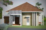 Desain Rumah Sederhana Fasad Minimalis Batu Alam