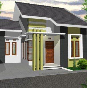 bermain warna tampilan depan desain rumah sederhana