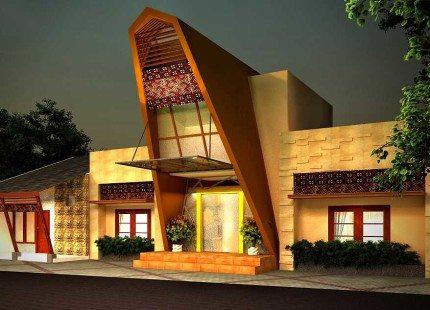rumah minimalis inspirasi rumah adat toraja | desain