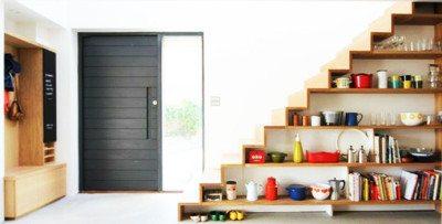 model rumah tingkat desain tangga rak kabinet - desain