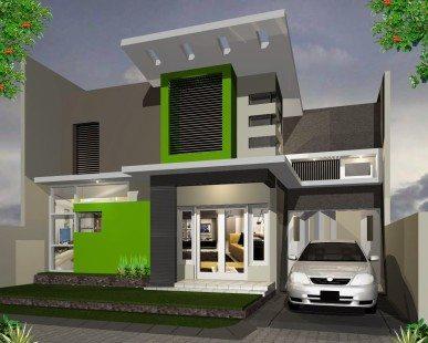 rumah tampak depan minimalis 2 lantai - desain, gambar