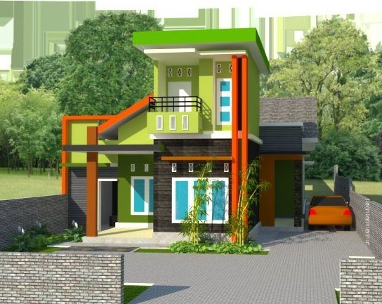 Perpaduan Warna Untuk Tampilan Rumah Tampak Depan Desain