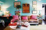 Design Interior Ruang Tamu Bohemian Minimalis
