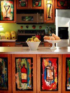 model dapur sederhana dekor kreasi lukis - desain, gambar