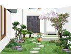 Model Taman Minimalis Dengan Gazebo