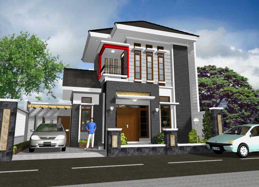 Rumah Minimalis Mewah Type 45 Terbaru Desain Gambar Foto Tipe