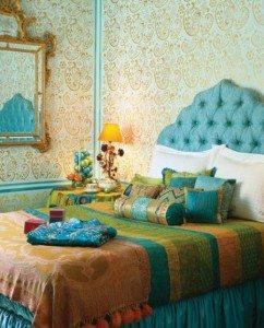 foto kamar tidur klasik hijau - desain, gambar, foto tipe