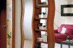 Pembatas Ruang Tamu Dan Ruang Keluarga Rak Minimalis Elegan