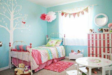permainan dekorasi kamar tidur anak perempuan - desain