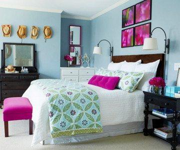permainan dekorasi kamar tidur gaya country - desain