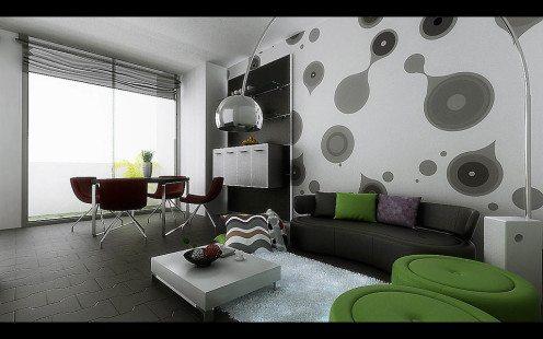 Wallpaper Dinding Ruang Tamu Minimalis Modern