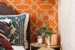 Harga Wallpaper Dinding Kamar Orange Motif Retro