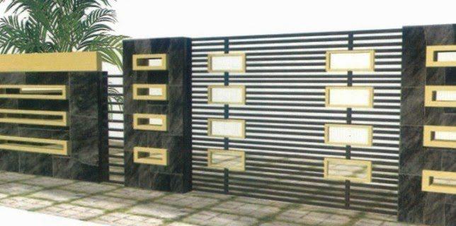 40 Minimalist Wall Fence Models Desain Eksterior Desain Rumah
