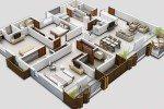 Desain Rumah 3 Kamar Tidur 3 Dimensi