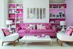 Foto Ruang Keluarga Minimalis Cat Warna Pink