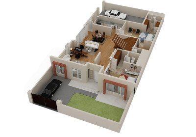 denah rumah sederhana dalam style jepang modern | desain