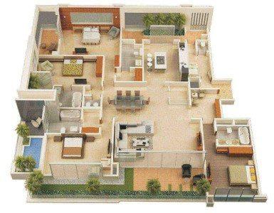 denah rumah sederhana mewah - desain, gambar, foto tipe