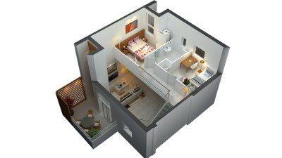 Denah Rumah Sederhana Minimalis 2 Lantai Type 36