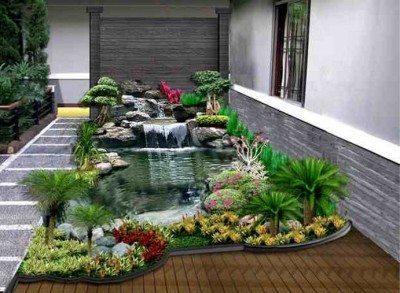 Model Taman Rumah Minimalis Dengan Kolam Ikan