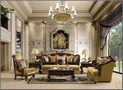 Ruang Tamu Mewah Klasik