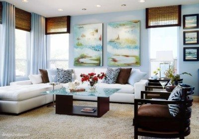 warna cat untuk ruang keluarga klasik