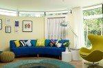 warna cat untuk ruang keluarga kontemporer modern