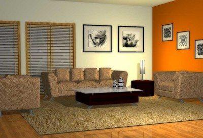 warna cat untuk ruang keluarga minimalis sederhana
