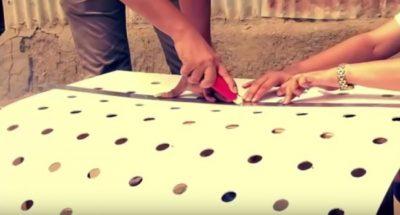 Cara Membuat Ac Sederhana Langkah satu lubangi triplek