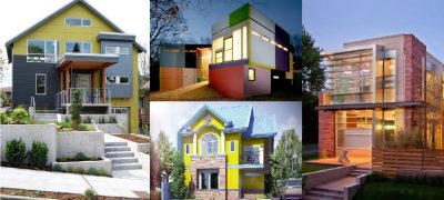 Konsep Bangunan Rumah Minimalis Terbaru Warna Warni
