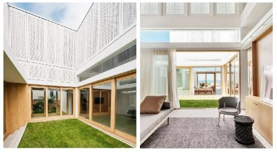 contoh bangunan rumah minimalis taman