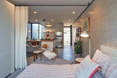 foto rumah minimalis sederhana manfaatkan gorden